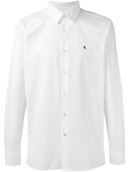 Raf Simons Embroidered Logo Shirt White