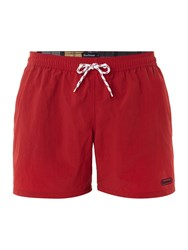 Barbour Lomond Drawstring Swimming Shorts Red
