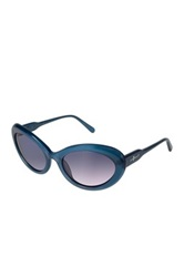 7 For All Mankind Women's Thick Framed Light Blue Sunglasses