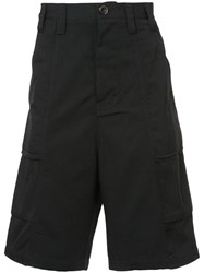 Song For The Mute Wide Leg Bermuda Shorts Black