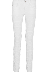Isabel Marant Stanford Origami Style Mid Rise Skinny Jeans White