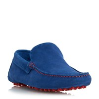 Dune Bermuda Contrast Stitch Loafer Shoes Blue