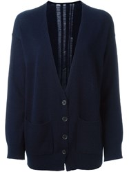 Raquel Allegra V Neck Cardigan Blue