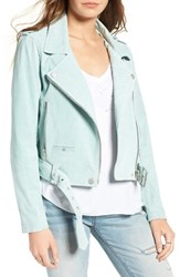 Blank Nyc Women's Blanknyc Morning Suede Moto Jacket Mint Green