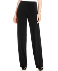 Alfani Wide Leg Knit Dress Pants Only At Macy's Deep Black