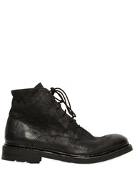 The Last Conspiracy Washed Matte Leather Lace Up Boots