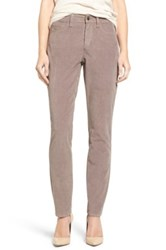 Nydj 'Alina' Skinny Stretch Corduroy Pants Gray