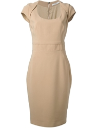 Givenchy Scoop Neck Shift Dress Nude And Neutrals