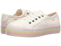 Rocket Dog Magic White Pastel Foxing 8A Canvas Women's Lace Up Casual Shoes