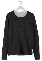 True Religion 2 In 1 Buttonfly Jumper Black Anthracite