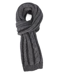 Wrangler Grey Cable Knit Scarf