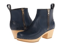 Swedish Hasbeens Zip It Emy Dark Blue Women's Zip Boots
