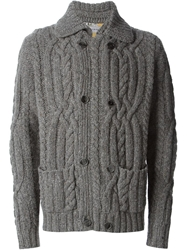 Etro Cable Knit Cardigan Grey