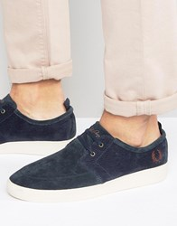 Fred Perry Shields Suede Trainers Navy