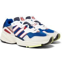 Adidas Originals Yung 96 Suede Leather And Mesh Sneakers Blue