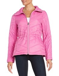 Guess Packable Quilted Coat Pink