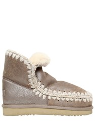 Mou 40Mm Eskimo 18 Metallic Shearling Boots