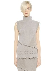 Damir Doma Wool And Alpaca Sweater With Raw Cut Edges