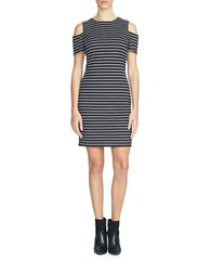 1.State Cold Shoulder Striped Dress Black