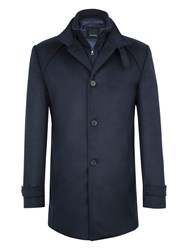 Baumler Men's Egon Wool Rich Car Coat Navy