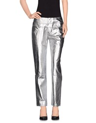Theyskens' Theory Trousers Casual Trousers Women Silver