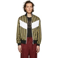 Versace Black And Gold Neoclassical Track Jacket