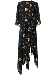 Solace London Floral Maxi Dress Black