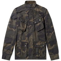 Barbour International Washed Camo Jacket Green