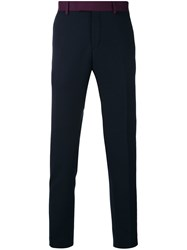 Calvin Klein Slim Fit Tailored Trousers Blue