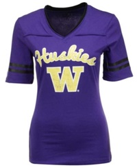 Colosseum Women's Washington Huskies Fair Catch T Shirt Purple