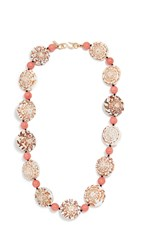 Kenneth Jay Lane Seashell Necklace Coral