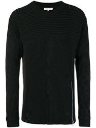 Mcq By Alexander Mcqueen Ribbed Sweater Black
