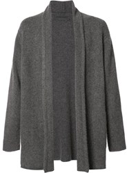 The Elder Statesman Buttonless Cardigan Grey
