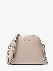 Michael Kors Studio Mercer Patent Leather Dome Crossbody Grey