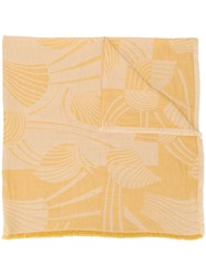 Closed Printed Scarf Yellow