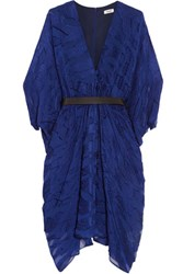 Issa Ness Belted Fil Coupe Dress Royal Blue