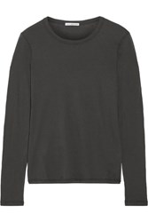 James Perse Little Boy Tee Brushed Cotton Top Dark Gray