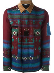 Valentino Geometric Print Jacket Red