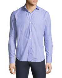 Culturata Luxury Coupe Sport Shirt Blue