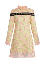 Marques Almeida Semi Sheer Floral Lace Dress Pink Multi