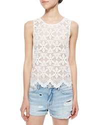 Frame Le Lace Scalloped Tank