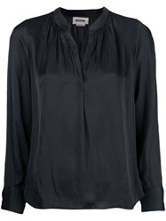 Zadig And Voltaire Tink Tunic Blouse Black