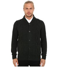 Ben Sherman Long Sleeve Cable Cardigan Me11763 Black Pine Marl Men's Sweater