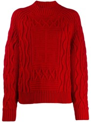 Givenchy 4G Sweater Red