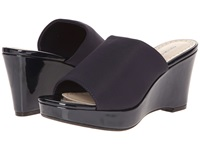 Adrienne Vittadini Caterena Navy Patent Stretch Women's Wedge Shoes