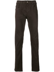 Fay Straight Leg Trousers Brown