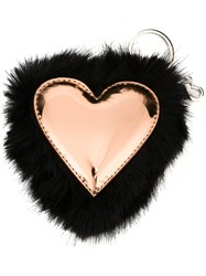 Stella Mccartney Heart Keyring Black