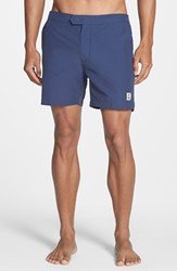 Men's Psycho Bunny Solid Swim Shorts Midnight
