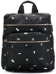 Paul Smith Cufflink Print Backpack Black