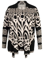 Chesca Abstract Print Jumper Black Beige
